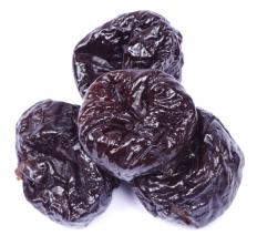 Plum pudding often contains prunes.