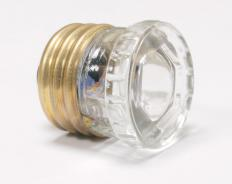 A glass fuse.