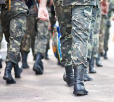 Marching may be learned during basic training.