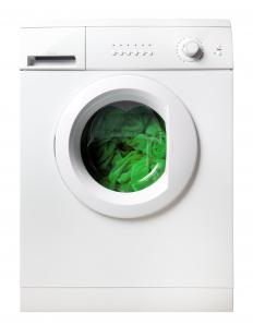 High efficiency washing machines are typically loaded from the front instead of through the top.