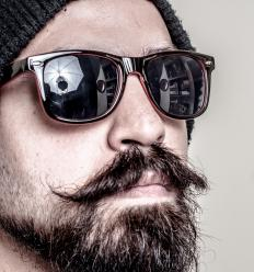 A hipster beard or mustache may be worn with the intention of being comical or ironic.