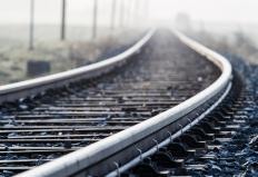 Gaps in railroad tracks keep the tracks from buckling in hot weather.