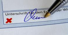 A signature's legitimacy is confirmed by a financial institution under a signature guarantee.