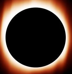 A solar eclipse, which can be caused by syzygy.
