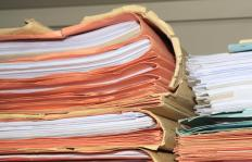 Court clerks maintain the important files for courts of record.