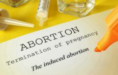Chemical substances may be used to terminate a pregnancy during a chemical abortion.