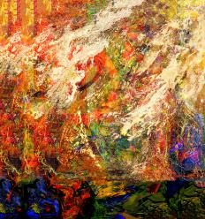 People interpret abstract art differently.