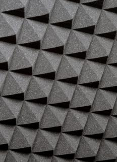 Acoustic foam is often used for soundproofing a drum booth.