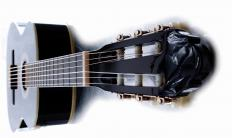 A luthier makes and repairs stringed instruments such as guitars.