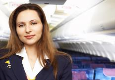 A corporate flight attendant may start out their career with a commercial airline.