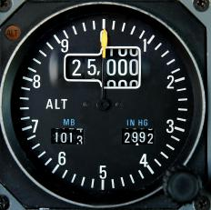 Aircraft use an altimeter to measure altitude.