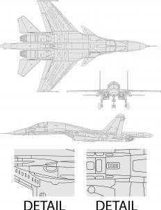 An aircraft plan designed by an aeronautical engineer.