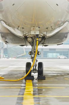 The bearing strength of an aircraft's landing gear must be considered carefully when the aircraft is designed.