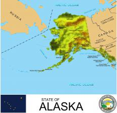 Alaska's location relative to the sun is the reason for its seasonal change in daylight.