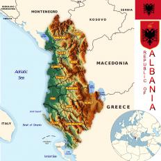 Albania's capital is Tirana, also styled Tirane, and its official name is Republic of Albania.