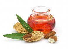 Almond oil can be used as a carrier oil.