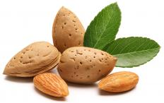 Almonds, which are used to make nut butter.