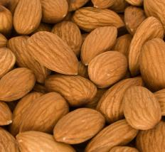 Almonds, which are often used to flavor macaroons.