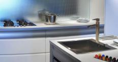 A stainless steel countertop offers a similar feel to copper, but is more durable.