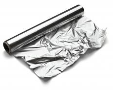 Lining a broiling pan with aluminum foil can make cleanup easier.