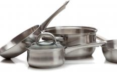 Hard-anodized cookware are pots and pans that are made from electrochemically-hardened aluminum.