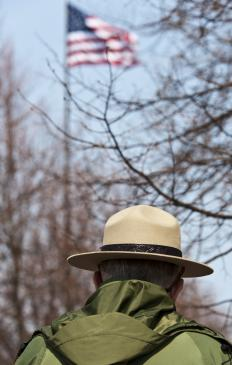 The National Park Service employs rangers to maintain parks and educate the public.