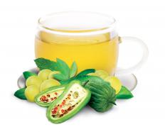 Amla extract may be used in tea.