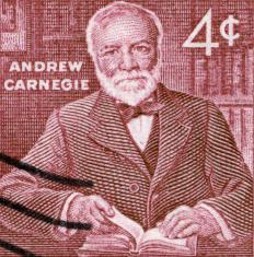 Philanthropist Andrew Carnegie suggested that the wealthy have an obligation to spend their money for the public good.