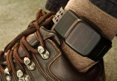 An ankle monitor prevents the need for constant supervision by a law enforcement officer.