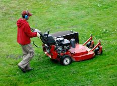 Industrial grade lawnmowers may require batteries that cannot be found at hardware stores.