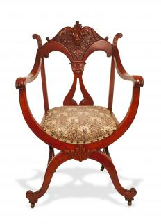 Victorian furniture is commonly constructed out of mahogany wood.
