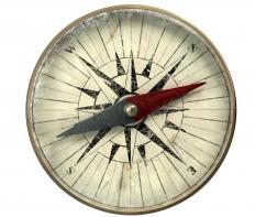 Compasses use the Earth's magnetic field to show direction.
