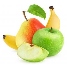 A fruit basket featuring a variety of fruits may make a wonderful gift for co-workers.