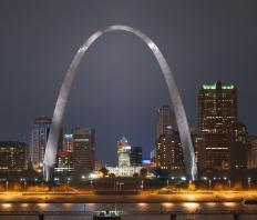 The Gateway Arch welcomes visitors to St. Louis, Missouri.