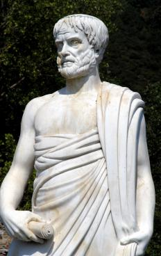 Rhetoric formally began with Aristotle's treatise on the art of persuasion.