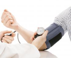 Blood pressure and heart rate may be monitored during a cold pressor test.