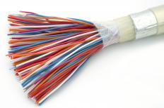 A cable might refer to a bundle of insulated wires through which electricity passes and is often used to connect a piece of equipment to a power source.