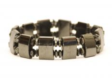 A germanium health bracelet, believed to relieve muscle pain and arthritis stiffness.