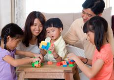 Social and family interactions can play a role in language development.