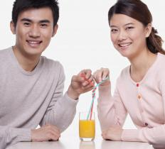 Sharing drinks can transmit bacteria from one person to another.