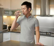 Drinking more water can lead to more urination and less water in the blood stream.