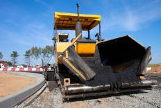 Asphalt plants produce the asphalt used to pave roads.