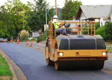Decomposed granite is sometimes used in road construction, although it must be compacted to form a firm driving surface.