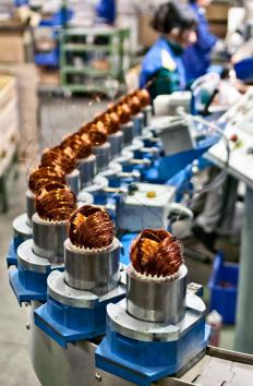 Assembly lines are an example of the efficient workflow management of production.