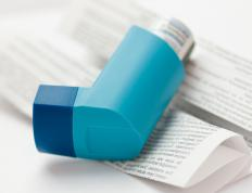 Bronchodilator inhalers are used to treat asthma symptoms.