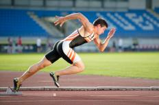 The best sprinters from a track and field team usually run the respective legs of a relay race.