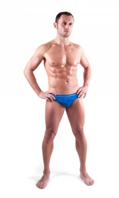 A male model is required to have an extremely low percentage of body fat.