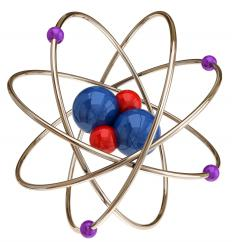 Atomic theory states that all matter is made up of tiny atoms.