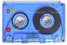 Audio cassettes are often used with dictation machines.