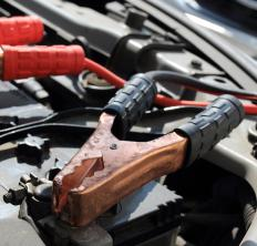 Jumper cables have metal clamps -- or lugs -- on both ends that can connect two car batteries together.
